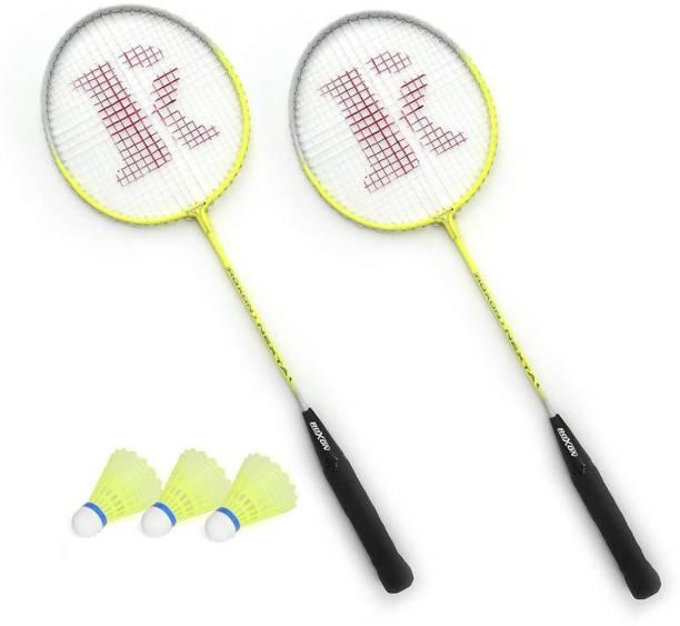 SUNLEY Nexta Badminton Racket 2Pc With 3Pc Shuttlecock Badminton Kit