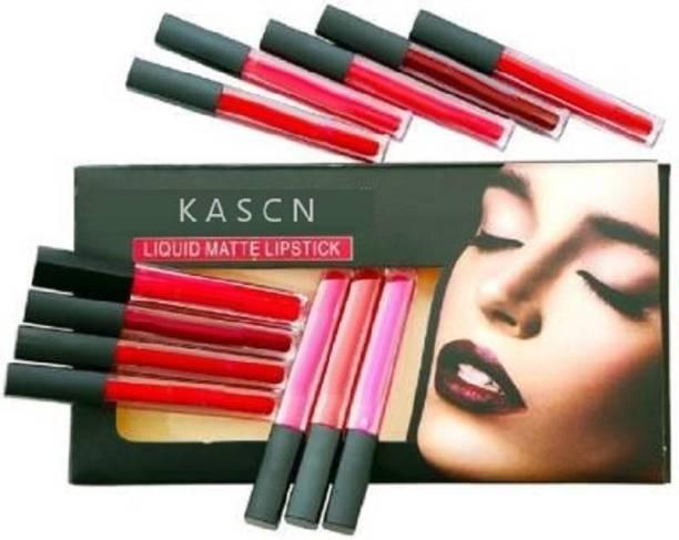 KASCN Matte Ultimate Lip Color Liquid Lipstick 12 Piece.
