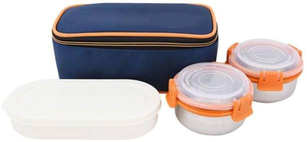 singh bartan bhandar 3 Containers Lunch Box 3 Containers Lunch Box (750 ml) 3 Containers Lunch Box
