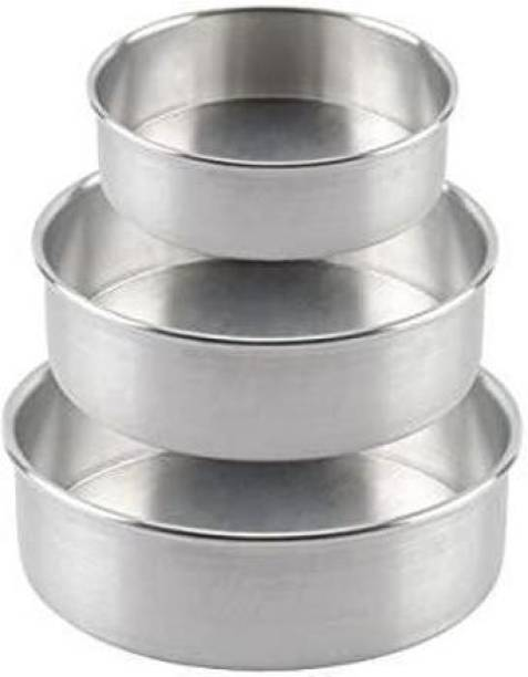 new kamboj CAKE MOULD ROUND PACK OF 3 Cake Mould