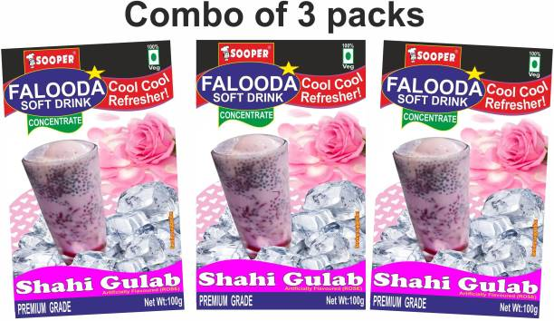 SOOPER FALOODA PREMIX COMBO PACK 100g X 3 =300g SHAHI GULAB 300 g