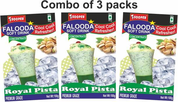 SOOPER FALOODA PREMIX COMBO PACK 100g X 3 ROYAL PISTA 300 g
