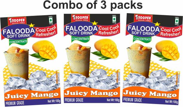 SOOPER FALOODA PREMIX COMBO PACK 100g X 3 JUICY MANGO 300 g