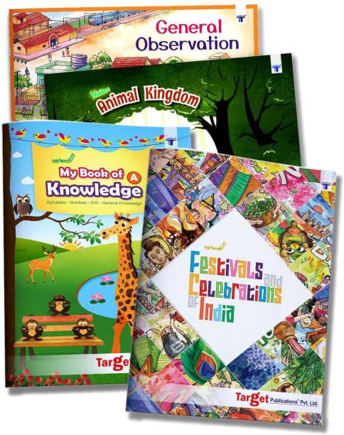 General Knowledge Books For Kids In English | 5 To 10 Year Old Children | GK Encyclopedia With Colourful Pictures | Learn About Animals, Festivals And Celebrations Of India, Our Surrounding And Much More With Activities | Set B Of 4 Books