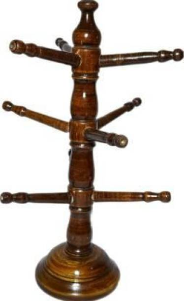 Wellwood Mart Bangle Stand For Home Decor Decorative Showpiece - 38 cm (Wood, Brown) Decorative Showpiece  -  12 cm
