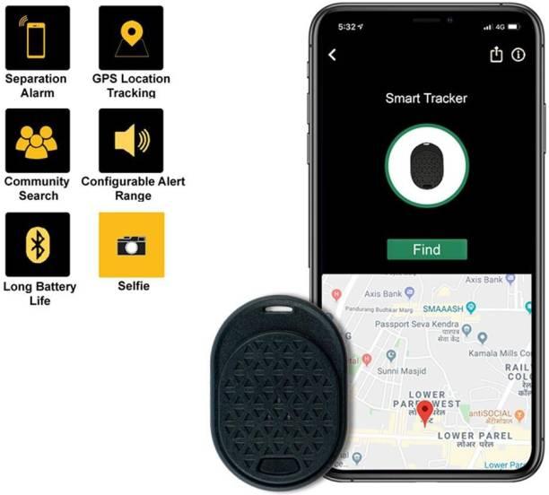 Tag8 Dolphin Smart Tracker Black - Wireless Bluetooth Anti-Lost Anti-Theft Alarm Device Tracker GPS Locator Dolphin Smart Tracker 800022 Safety Smart Tracker