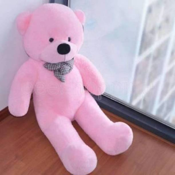 RIDDHI TOYS 3 Feet Soft Teddy Bear For Bears Huggable/Loveable/Valentine For Someone Special 91cm (pink)  - 91 cm