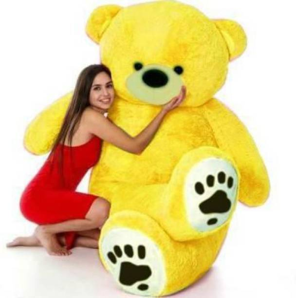 Toodles 3 Feet Yellow Printed Foot Paw Teddy Bear Stuffed Toys for Girls Birthday /Valentine/Anniversary Gifted Someone Special  - 90.1 cm