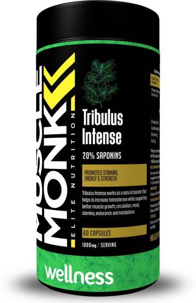 MuscleMonk Tribulus Intense   20% Saponins Extract   1000mg - 60 Veg Capsules