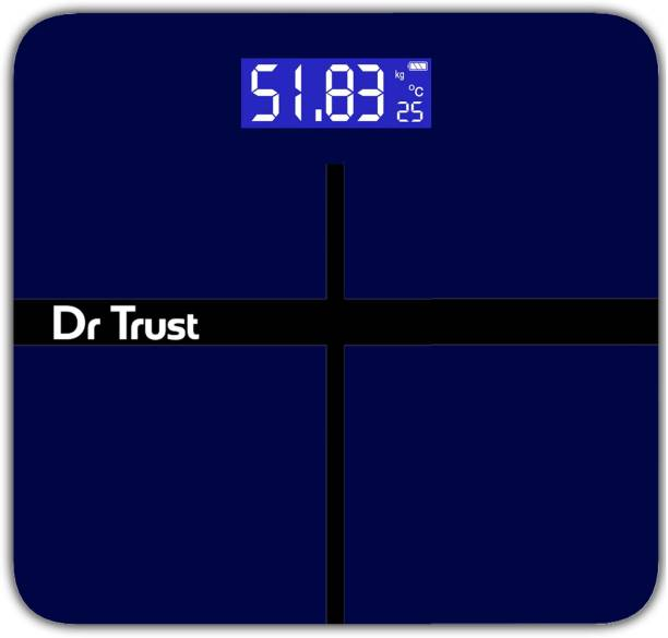 Dr. Trust (USA) Executive Rechargeable Digital Weighing Scale Electronic Weight Machine For Human Body with Temperature Display( USB Cable Included) Weighing Scale