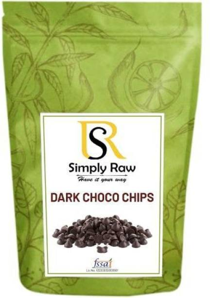 Simply Raw Combo Assorted Milk Chocolate Chips & Dark Chocolate Chips & White Chocolate Chips Baking Garnishing and Toppings Choco Chips Each (Pack of 3*300 Gram) Chips
