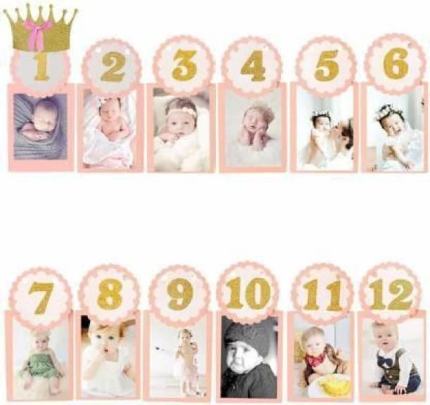 Nayugic Pink Banner for birthday Girl / Birthday Banner for Decoration / First Birthday Decoration items for girls / First Birthday Decoration Girl / First Birthday Banner