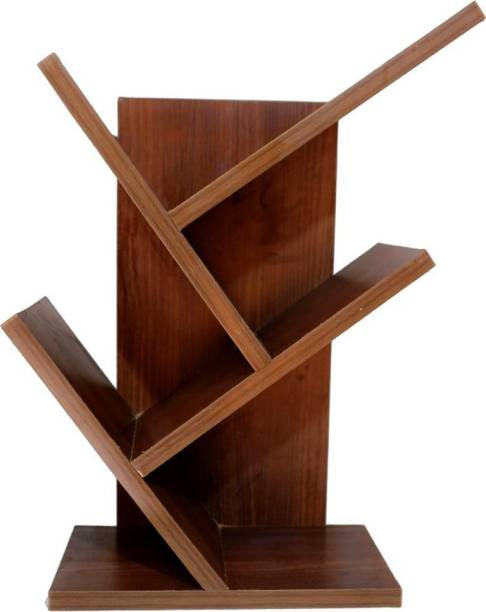 NB crafted Solid Wood Open Book Shelf
