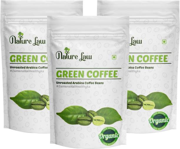 Nature law Green Coffee Beans for Weight Loss/Fat Burner Coffee Beans (25*3g) Roast & Ground Coffee