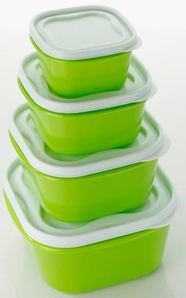 Flipkart SmartBuy Air Tight Container - 2400 ml, 1400 ml, 800ml, 400 ml Plastic Fridge Container (Pack of 4,GREEN)  - 2400 ml, 1400 ml, 800 ml, 400 ml Plastic Fridge Container