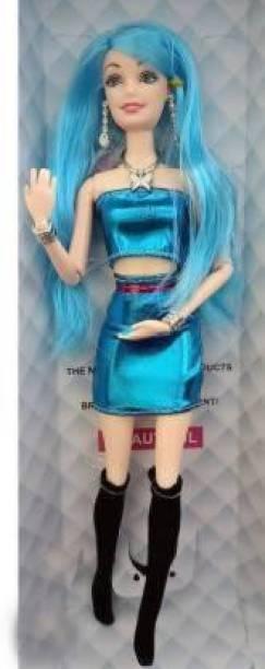 Tenmar Cute Foldable Doll Blue Colored Hair (Blue) (Blue)