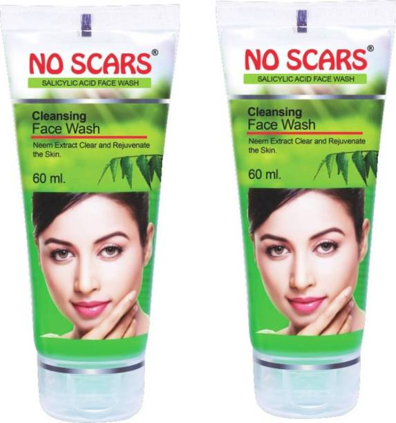 NO SCARS No_Scars Neem Extract FaceWash 2x60ml (Pack of 2) Face Wash