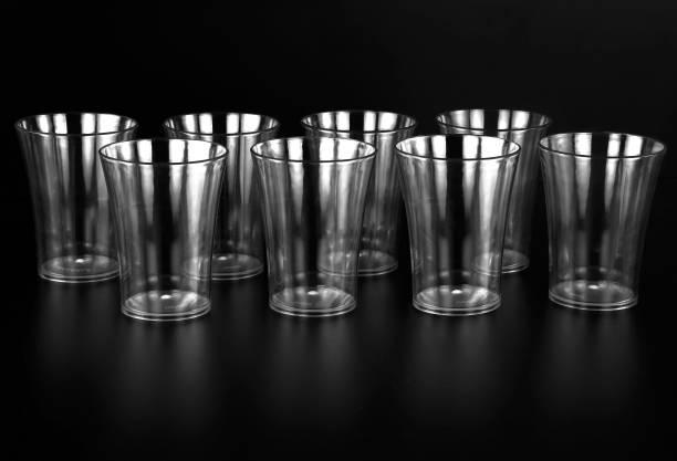 Centureum (Pack of 8) PLASTIC JUMBO SIZE Unbreakable Water Juice Glasses Glass Set