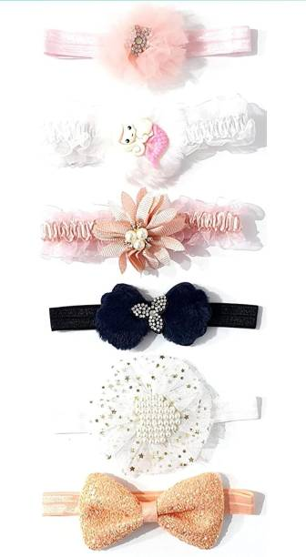 HOMEMATES multi-colored baby girl kids hairband headbands elastic Ribbon hair accessory set 6 PCS Head Band