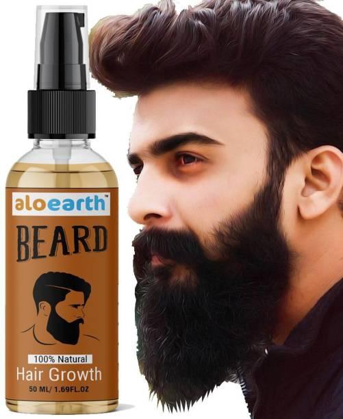 Aloearth Original Smart Beard and Mooch Growth oil for Boys and Men Hair Oil