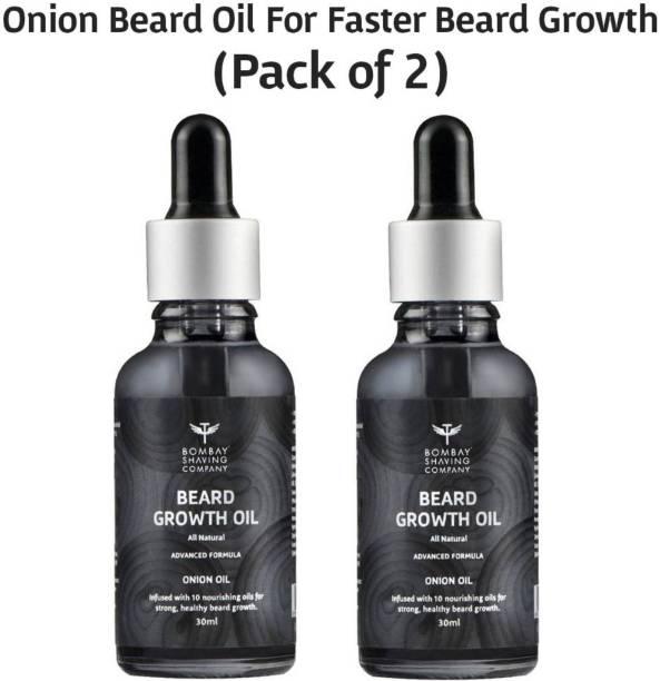 BOMBAY SHAVING COMPANY Natural Onion Beard Growth Oil For Stimulating Healthy & Fast Beard Growth Hair Oil