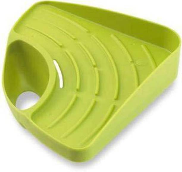 Utkarsh Enterprise Useful Multipurpose Must Have Corner Sink Wash Basin Storage Organizer Multicolor Plastic Kitchen Rack(Pack Of 1) Plastic Wall Shelf Water Dispenser Kitchen Rack