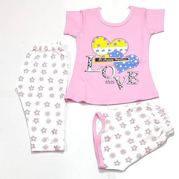 KIFA Baby Girls Casual Pyjama T-shirt