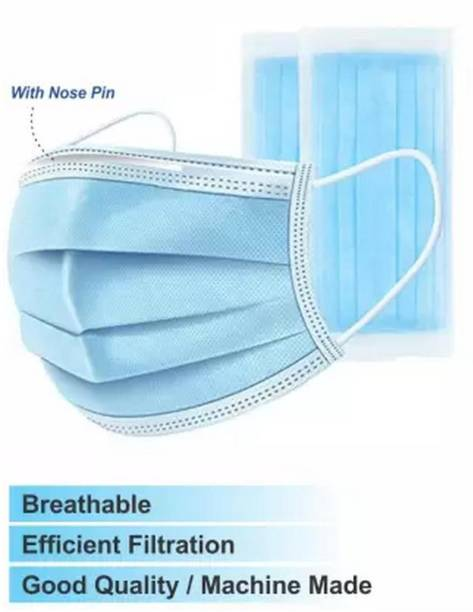 BUWCH DISPOSAL MASK USE AND THROW FOR GOOD HEALTH -V+ 5 Layer Reusable Mask Respirator with Valve Respirator DISPOSAL MASK USE AND THROW FOR GOOD HEALTH (Free Size, Pack of 100) Surgical Mask With Melt Blown Fabric Layer