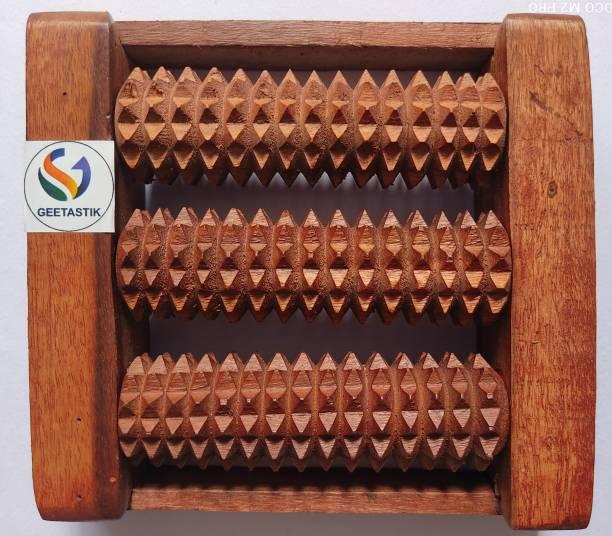 Geetastik GA-0003 Wooden Feet 3 Roller Massager (Brown) Massager