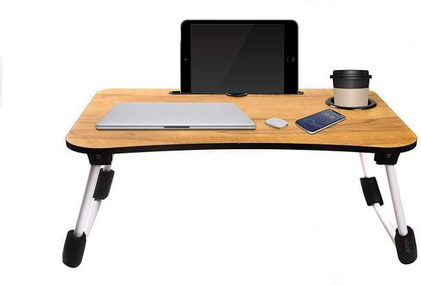 vatical creation Multi-Purpose Laptop Table Portable Laptop Table (Finish Color - Brown) Engineered Wood Study Table