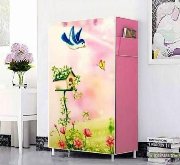 Flipkart Perfect Homes Studio 5Tiers Bird Printed Metal Shoe Stand