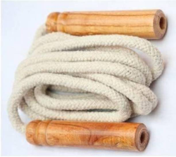 SPORTSHOLIC Cotton Skipping Rope For Daily Exercises Gym Women Boys Girls Freestyle Skipping Rope