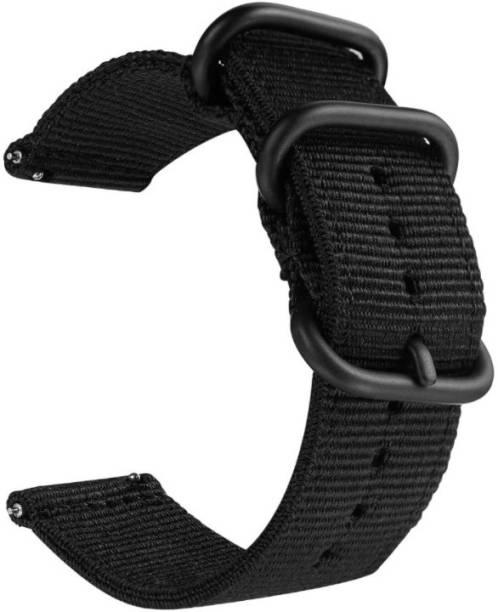 gettechgo Premium Soft NATO Nylon 18mm Bands Strap Compatible with Fossil Q Venture Gen 3 / Q Venture HR Gen 4 / Vivoactive 4S / Vivomove 3S & other watches with 18mm Lugs Smart Watch Strap