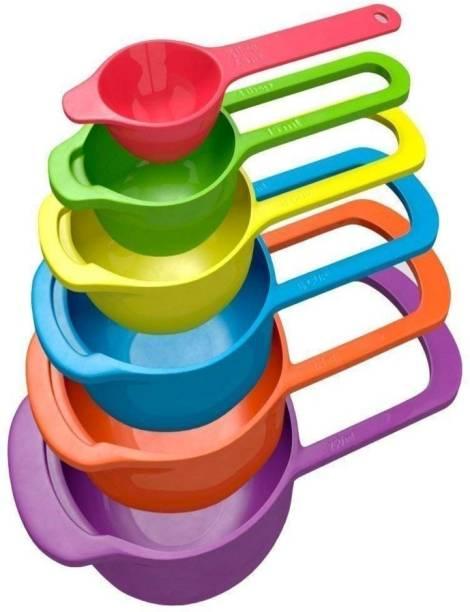 finalize 6 Piece Measuring Cup & Spoon Set - Measurement Measuring Cups And Spoons Set 6 Pcs Plastic Measuring Spoon Set, Plastic Table Spoon, Measuring Spoon Set (Pack of 1) Plastic Measuring Spoon
