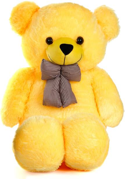Ziraat Cool Yellow 3 Feet Teddy Bear Yellow Teddy Bears Huggable/Valentine/Loveable For Someone Special - 91 cm  (Yellow) - 0.5 inch  (Yellow-001-3F)  - 0.5 inch