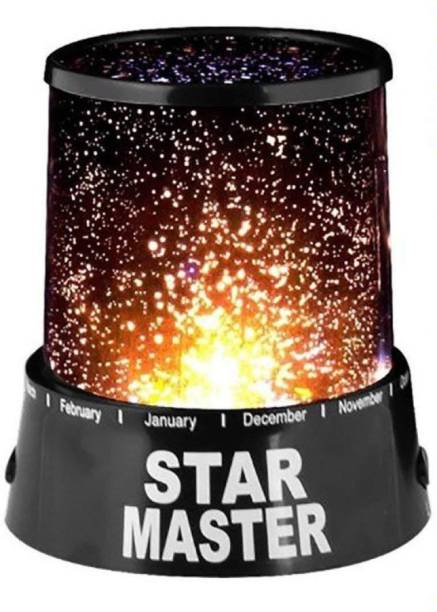 VVG TRADERS Star Master Projector With Usb Wire Turn Any Room Into A Starry Sky Colorful Romantic LED Cosmos Star Master Sky Starry Night Projector Bed Light Lamp. Night Lamp (12 cm, Black) Table Lamp