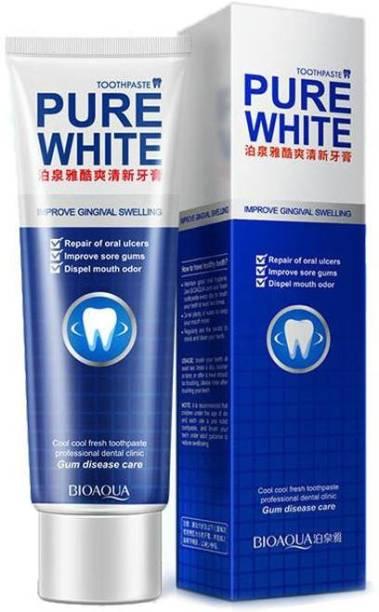 BIOAQUA Toothpaste Whitening Toothpaste Herbal Fresh Mint Bleaching Remove Yellow Spots Unpleasant Odor Iz Mouth And Improve Gum Bleeding Toothpaste