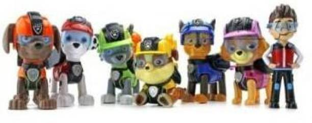 The Simplifiers 7 pcs/Set Paw Patrol Toys Dog One Key Can Deformation Toy