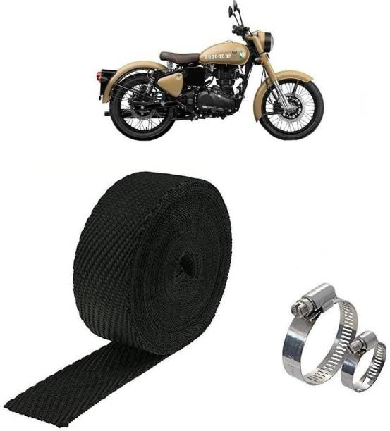 AXWee 3 METER Silencer Wrap With Clamp Bike Exhaust Heat Shield For Royal Enfield Classic 350 Bike Exhaust Heat Shield