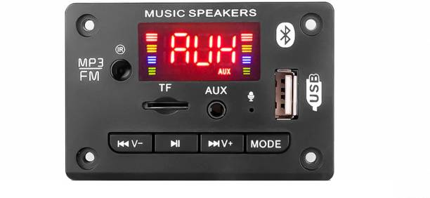 Gadget Hero's Bluetooth Decoder Board Support USB TF AUX FM Audio Module AM6 Black Car Stereo