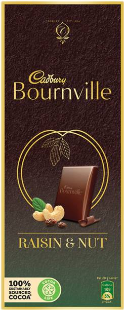 Cadbury Bournville Raisin & Nuts Dark Chocolate Bars