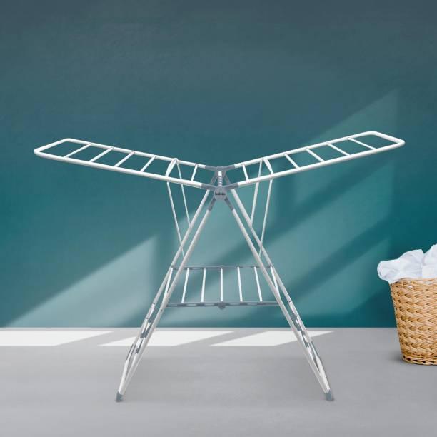 Bathla Steel Floor Cloth Dryer Stand MDN-Grey