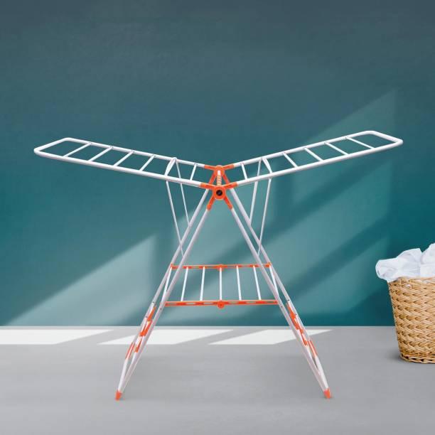 Bathla Steel Floor Cloth Dryer Stand MDN-Orange