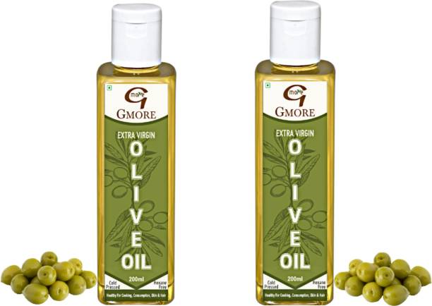 Gmore Cold Pressed - Extra Virgin - Olive Oil - Organic - 100% Pure & Natural Olive Oil Plastic Bottle