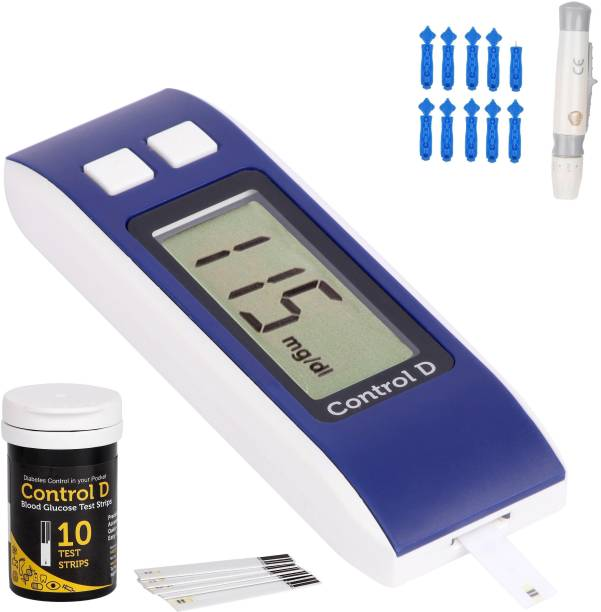Control D Glucose check machine with 10 strips Glucometer
