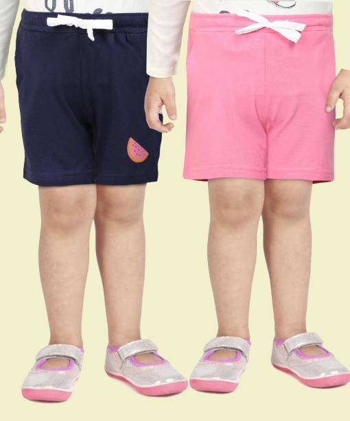 Miss & Chief Short For Girls Casual Solid Pure Cotton
