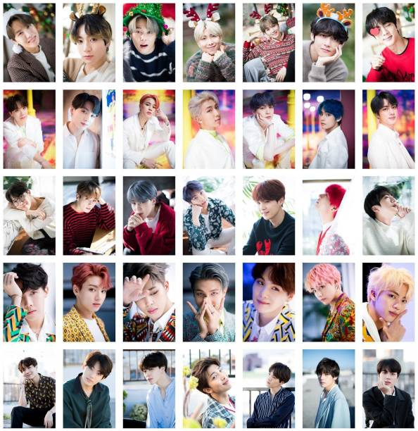 Pack of 35 BTS Band Members Photos | for BTS Fans | HD Quality Photographic Paper