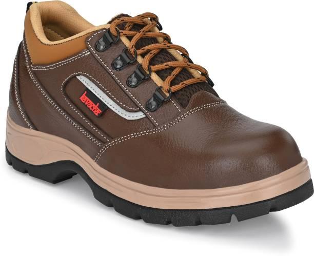 Kavacha Kavha Pure Leather Steel Toe Safety Shoe Pure Leather Steel Toe Safety Shoe S122 , Size :8 Steel Toe Leather Safety Shoe