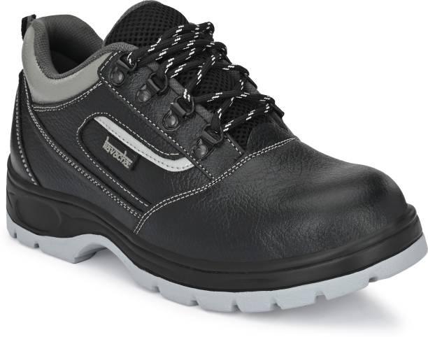 Kavacha Kavha Pure Leather Steel Toe Safety Shoe Pure Leather Steel Toe Safety Shoe S123 , Size :7 Steel Toe Leather Safety Shoe