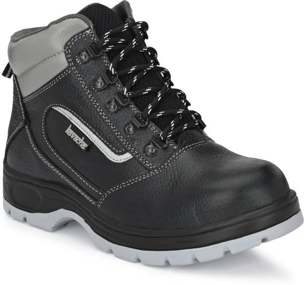 Kavacha Kavha Pure Leather Steel Toe Safety Shoe Pure Leather Steel Toe Safety Shoe S121 , Size :9 Steel Toe Leather Safety Shoe